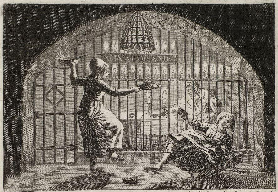 Kaat Mossel viert in de gevangenis de verjaardag van prinses Frederica (1784)